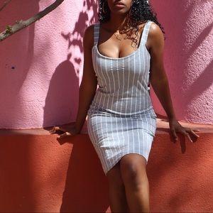 Pretty Little Thing Pinstripe Dress